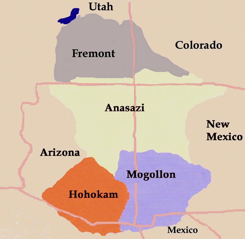 Map of Four Corners Indian Cultures