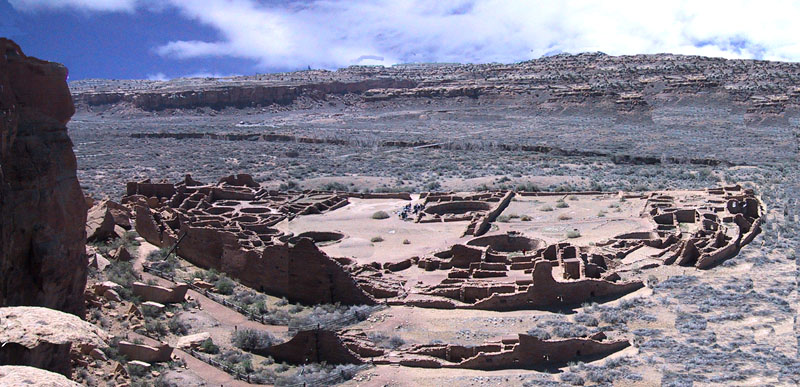Pueblo Bonita built in Caco Canyon in 1000 - 1100 A.D,