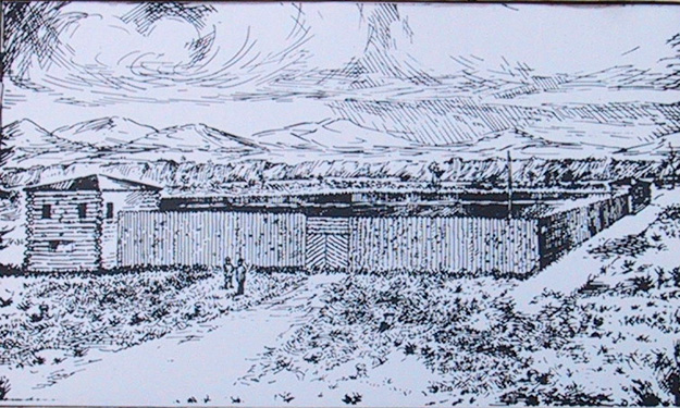 Fort Bonneville Drawing