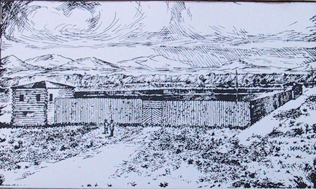 Fort Bonneville Drawing