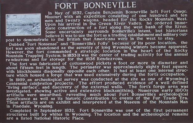 Fort Bonneville Sign