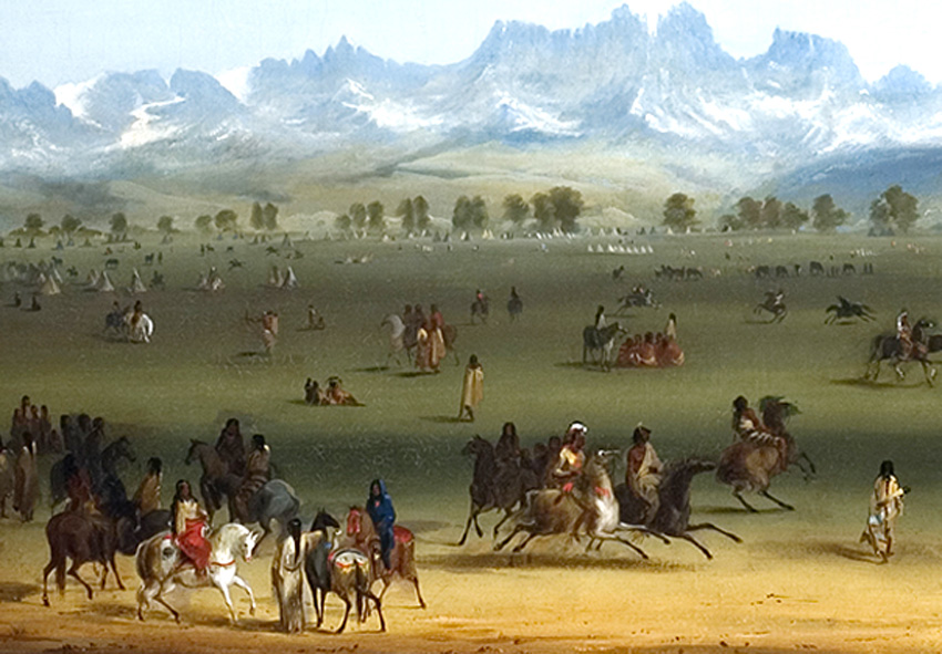 Horse Creek Rendezvous - Alfred Jacob Miller