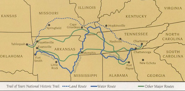 Trail Of Tears American Western Expansion - Map of us east of mississippi river