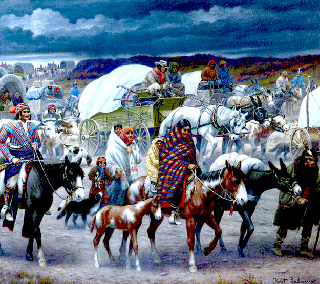 trails of tears Throughout the history of the united states, many native americans have lived in various parts of the united states in fact, many of those tribes still claim.