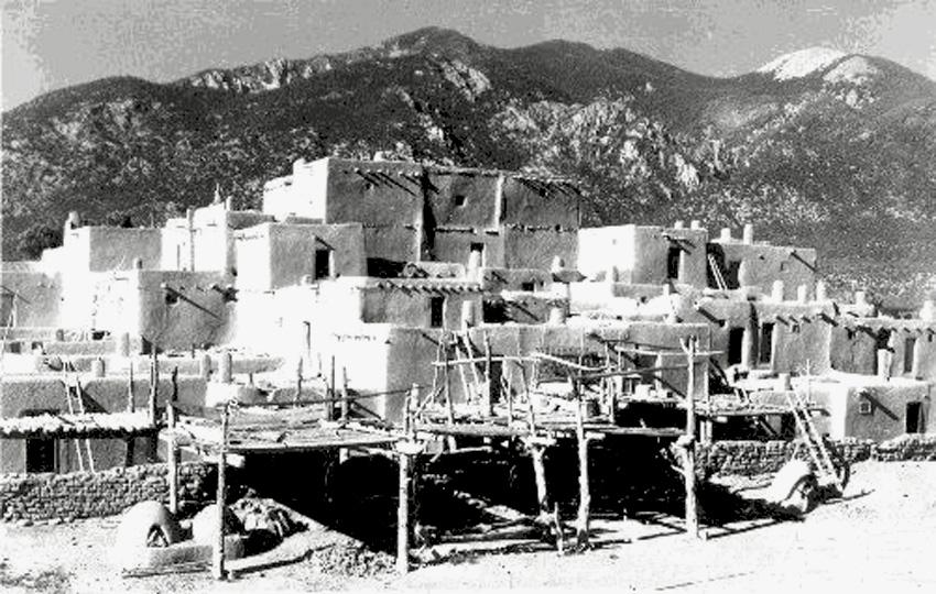 Taos Pueblo ~ 1890 - Google Images